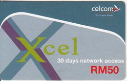 MALAYSIA - Xcel, Celcom Prepaid Card RM 50, Sample - Malaysia