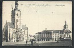 +++ CPA - TIRLEMONT - TIENEN - Eglise N-D Au Lac Et Grand'Place  //