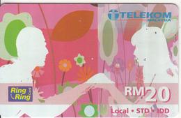 MALAYSIA - Couple, Telecom Malaysia Prepaid Card RM20, Exp.date 31/08/05, Used - Malaysia