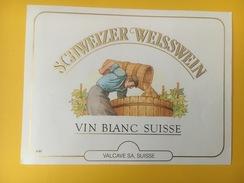 4161 -  Vin Blanc Suisse - Etiquettes