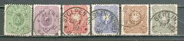 ALLEMAGNE ; GERMANY ; 1879 ; Y&T N° 36 à 41 ; Lot :  ; Oblitéré - Allemagne
