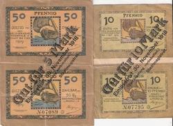 BILLET NECESSITE MONNAIE GUERRE ALLEMAGNE REICH LINDAU SURCHARGE NOTGELD - [ 2] 1871-1918 : Empire Allemand