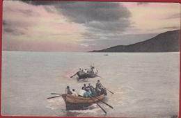 Old Poscard Italy Italia ? Boat Ferry Overzet Unknown - Pêche
