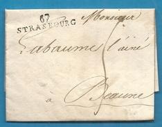 Bas Rhin - Strasbourg Pour Labaume à Beaune. LAC De 1806 - Marcophilie (Lettres)