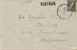 BR-8536   VERTRIJK          Brief      Stationsnaamstempel   Verzonden Via   TIENEN