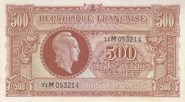 Billet 500 F Marianne 1945 FAY VF11.2 Lettre M Série 71 SPL - Trésor