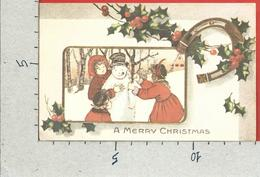CARTOLINA VG STATI UNITI - MERRY CHRISTMAS - Pupazzo Di Neve - Bambini - 9 X 14 - ANN. 1978 - Noël