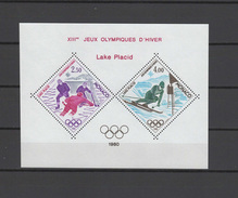 Monaco 1980 Olympic Games Lake Placid S/s MNH -scarce-