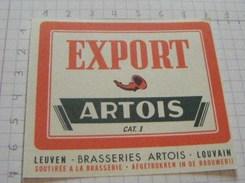 ETIQUETTE EXPORT BRASSERIE ARTOIS LOUVAIN - LEUVEN - 3 - Beer