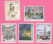 """HB-P 009 MONACO Série Complète """"peintres Célèbres"""" N°1693 à 1697 - Faciale -50% - Monaco"""