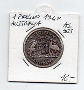 Australia - 1940 - 1 Fiorino - Argento 925 - (FDC4531) - Australia