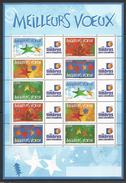 MEILLEURS VOEUX 2004 - FEUILLE DE 10 TIMBRES N° F3722A - 20 % DE LA COTE - Personalized Stamps
