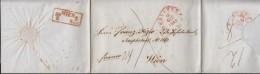 K2 Rot: Frankfurt A. M. 16.AUG 1848  Auf Faltbrief Nach Wien, Mit Bestellstempel - Duitsland