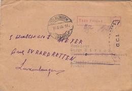 COVER SAAR. 19 8 1946. TAXE PERCUE 75Pf. VÖLKLINGEN-FRANCE-LUXEMBOURG  OUVERT PAR LES GCI - Allemagne