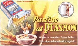 """05752 """"PASTINE AL PLASMON - ALIMENTO COMPLETO IPERNUTRITIVO"""" CARTA ASSORBENTE 1950 CIRCA - Alimentare"""