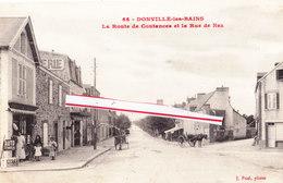 DONVILLE-les-BAINS - La Route De Coutances Et La Rue De Nez - France
