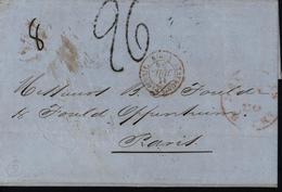 1854 Lettre De La Havane Cuba Entrée Etats Unis Forwarded Achemineur Taxe Tampon 26 Poids Manuscrit MP - Préphilatélie
