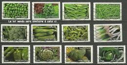Série Complète France 2012 - Flore - Légumes Auto-adhésif Oblitérés (lot Vendu Sera Similaire à Celui-ci). - Luchtpost