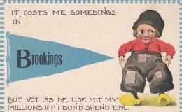 South Dakota Pennant Series It Costs Me Somedings In  Brookings 1913 - Brookings