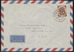 Germany1953: Michel135 Ef Düsseldorf To New York - [7] République Fédérale