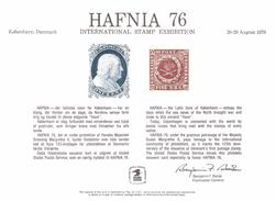 Denmark USA 1976 Souvenir Bloc For Hafnia 76,unused