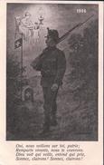 Carte Militaire Suisse, 1914 Aux Frontières (899) - Weltkrieg 1914-18