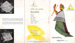 """05758 """"MANOLIVA - ARESE (MI) - INDUSTRIA ITALIANA FAZZOLETTI - ALCUNE IDEE PER ESPORLI"""" PIEGHEVOLE PUBBLICITARIO 1950 - Pubblicitari"""