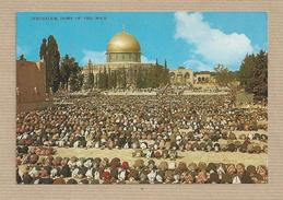 Israel Old Postcards Jerusalem Moslems Praying Dome Rock Ramadan     Places Of The Bible - Israel