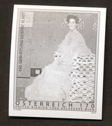 RARE IMPERFORATED (VERY LOW QUANTITY) OFFICIAL BLACK PRINT FROM A STAMP GUSTAV KLIMT - Art