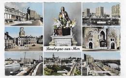 BOULOGNE SUR MER - N° 8 - MULTIVUES - FORMAT CPA NON VOYAGEE - Boulogne Sur Mer