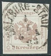 1877 AUSTRIA USATO SEGNATASSE PER GIORNALI AQUILA 2 K - M57-9 - Strafport