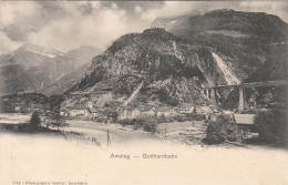 AMSTEG - GOTTHARDBAHN, Gel.1923 - Eisenbahnen