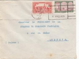ALGERIEN 193? - 2 Sondermarken Auf Brief Gel. Nach Geneve - Algerien (1924-1962)
