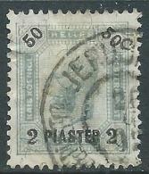 1901 AUSTRIA LEVANTE USATO EFFIGIE 2 PI SU 50 H - M56-6 - Oriente Austriaco