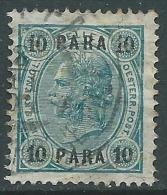 1903 AUSTRIA LEVANTE USATO EFFIGIE 10 PA LINEE BRILLANTI - M56-6 - Oriente Austriaco