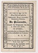 Jonkvrouw Maria Antonia Robertina Gislena De PENARANDA - Rijsel - Lille - Adel - Noblesse - 1830 - Obituary Notices