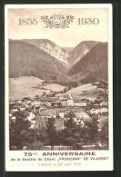 """CPA Villeret, 75. Anniversaire De La Societe De Chant """"Frohsinn"""" - BE Berne"""