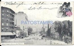 72136 US WASHINGTON D.C PENNSYLVANIA AVENUE FROM TREASURY BUILDING CIRCULATED TO ARGENTINA POSTAL POSTCARD - Estados Unidos