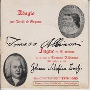 ADAGIO PER ARCHI ED ORGANO - SERIE CONTREPOINT EXTP.1005 - SERIE ARTISTIQUE  -  FRAIS DE PORT COMPRIS POUR LA FRANCE - Classical