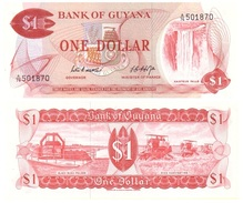 Guyana 1 Dollar 1966-92 Pick 21.d UNC - Guyana