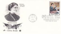 US Civil War, Sc#2975r Phoebe Pember Nursing Soldier FDC, Gettysburg PA 29 June 1995 Postmark On Cover - Militaria