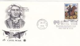 US Civil War, Sc#2975l Military Scout Native American FDC, Gettysburg PA 29 June 1995 Postmark On Cover - Militaria