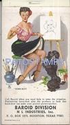 72160 US TEXAS PUBLICITY BAROID DIVISION INDUSTRIES NOTEBOOK & CALENDARY 1972 13 X 7 CM NO POSTAL POSTCARD - Estados Unidos