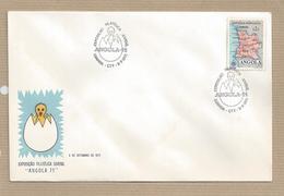 Angola FDC Portugal  (Periodo Colonial) Exposição Filatelica Juvenil Sobrescrito De Primeiro Dia - Angola