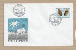 Angola FDC Portugal  (Periodo Colonial) Mostra Filatélica Da Jamba Sobrescrito De Primeiro Dia Stamp Cymbium Cisium Menk - Angola