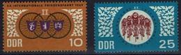 DDR 1967 - MiNr 1278-1279 - Radfernfahrt Für Den Frieden - Warschau, Berlin Und Prag, Räder, - Radsport