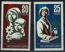 DDR 1967 - MiNr 1256-1257 - Demokratischer Frauenbund Deutschlands (DFD) - Ungebraucht