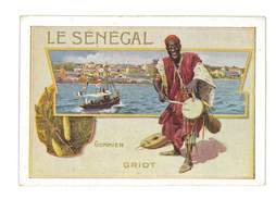 CHROMO IMAGE BISCUITS COSTE MARSEILLE ILLUSTRATION LE SENEGAL - Other