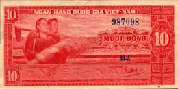 VIET-NAM SUD 10 DONG  De 1962nd  Pick 5a  XF/SUP - Viêt-Nam
