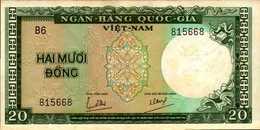 VIET-NAM SUD 20 DONG  De 1964nd  Pick 16a  AU/SPL - Viêt-Nam